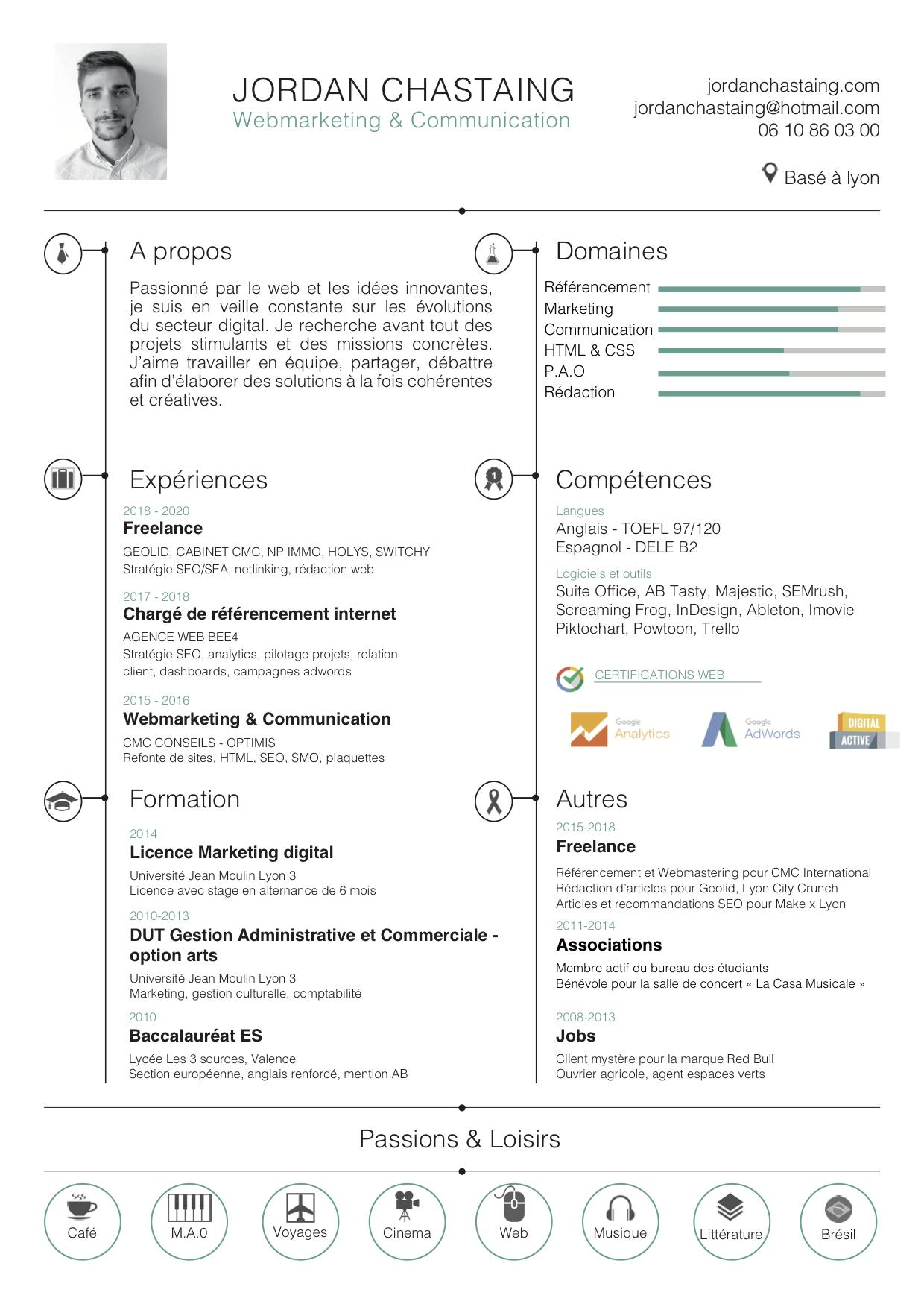 CV Référenceur Freelance SEO Lyon